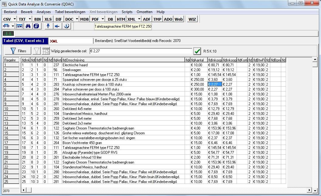 gegevens analyseren excel